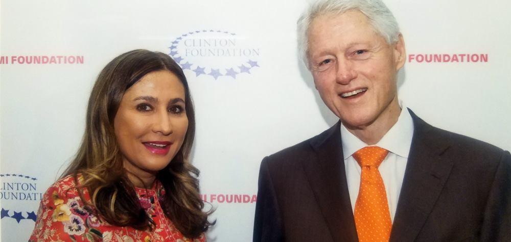 Bill Clinton and Meera Gandhi